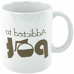Addicted to Pot Funny Coffee Tea Mug Cup Novelty Gag Gift Jo