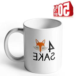 Sweese Aha Mug - Oh For Fox Sake - 11 OZ Porcelain Coffee Cu