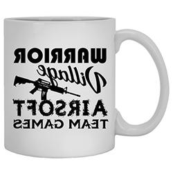 Airsoft Mug Coffee - White Ceramic Tea Cup 11oz, Airsoft Mug