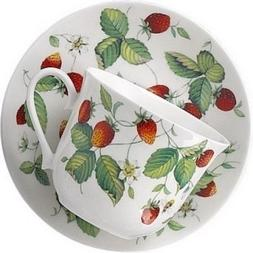 Roy Kirkham Alpine Strawberry Chatsworth Breakfast Cup and S
