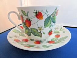 ALPINE STRAWBERRY FINE BONE CHINA  BREAKFAST CUP SAUCER ROY