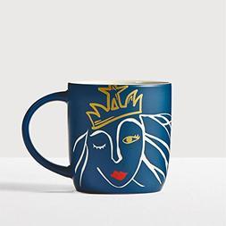 Starbucks Anniversary Blend Siren Mug 2016 Navy Blue Engrave