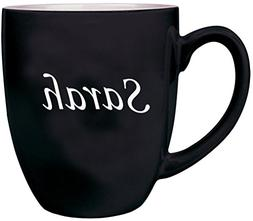 ANY TEXT Custom Engraved Coffee Mug, Laser Engraved Personal