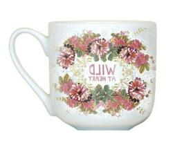 """Papaya Art Kitchen Dining 12oz Porcelain Coffee Mug """"Wild at"""
