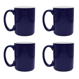 Culver Atlas Ceramic Mug 15-Ounce Set of 4