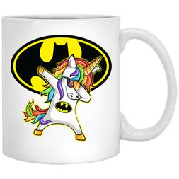 Batman Unicorn Coffee Mug - Funny Cute Dabbing Magic Tea Cup