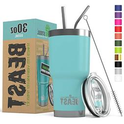 BEAST 30 oz Teal Tumbler Stainless Steel Insulated Coffee Cu