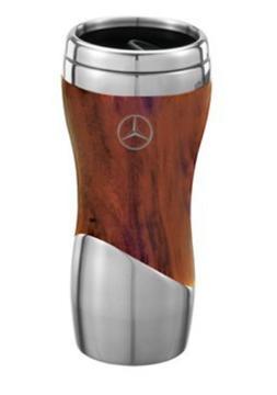 Mercedes Benz Coffee Mug Wood Grain Tumbler Cup Double Wall