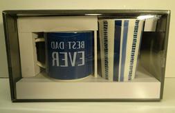 BEST DAD EVER Mug Set Threshold 2 Pack Travel Mugs Dishwashe