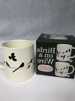 Birds on a Wire Heat Changing Mug - Add Coffee or Tea and Co