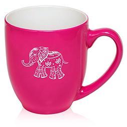 16 oz Large Bistro Mug Ceramic Coffee Tea Glass Cup Festive