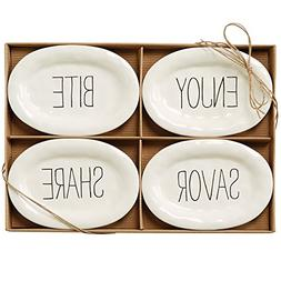 Mud Pie Bistro Tidbit Plates Set of 4