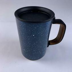 Starbucks Black Ceramic Desktop Mug Silicone Nonslip Bottom