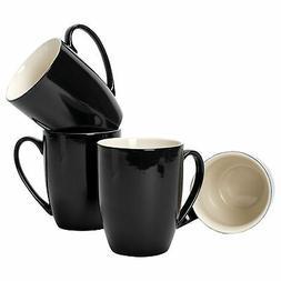 Black Glossy Finish 10 ounce New Bone China Coffee Cup Mugs