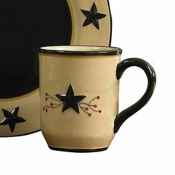 Black Star and Berry Vine Coffee Mugs - 4 Piece Set by Park