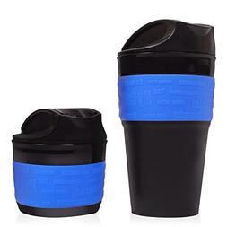 Blue, Collapsible Travel Cup, Mug Silicone Travel Mug, BPA F