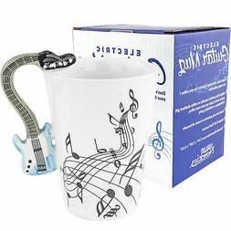 Fairly Odd Novelties Blue Electric Guitar Coffee Mug, White