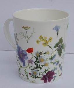 STECHCOL BONE CHINA COFFEE TEA MUG FLORAL PRINT NEW AUTHENTI