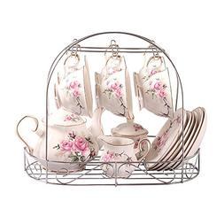 bone china gold pink camellia