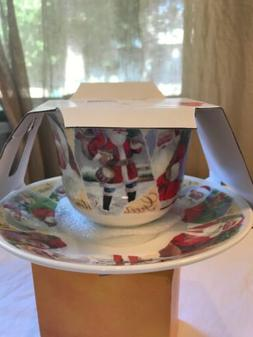 Roy Kirkham Bone China Jumbo Breakfast  Tea Cup With Saucer