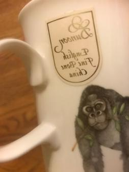 "Dunoon bone china mug/cup ""Gentile Giants"" Gorillas By C"