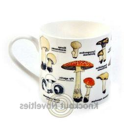 Bone China Mug - Mushrooms Coffee Tea Mug Fun Novelty Handle
