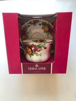 ROYAL ALBERT Bone China OLD COUNTRY ROSES Footed Tea Cup & S