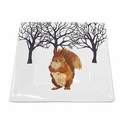 Paperproducts Design New Bone China Small Square Plate Featu