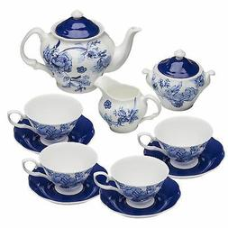 Grace Teaware Bone China 11-Piece Tea Set