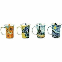 Signals Bone China Van Gogh Mugs - Set Of 4 With Famous Pain