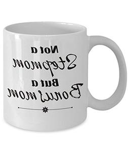 Bonus mom- Cool stepmom mug- Great gifts for stepmom as a Mo