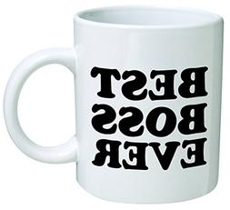 49d21018d05 Best boss ever - 11 OZ Coffee Mug - Funny Inspirational and
