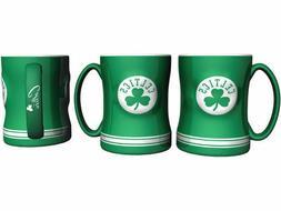 Boston Celtics Coffee Mug Relief Sculpted Team Color Logo  1
