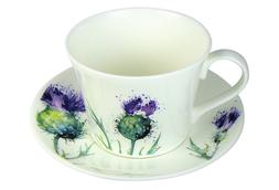 Roy Kirkham Breakfast Jumbo Tea Cup Saucer Set Fine Bone Chi