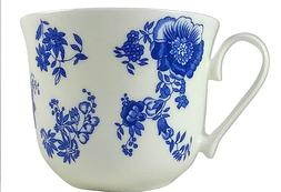 ROY KIRKHAM Breakfast Tea Cup Blue Victoriana Fine Bone Chin