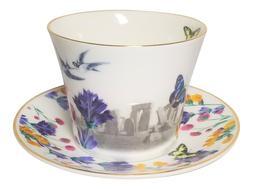 Stonehenge Jumbo Breakfast Tea Cup Saucer Fine Bone China En