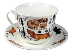 Roy Kirkham Breakfast Teacup and Saucer Set Fine Bone China