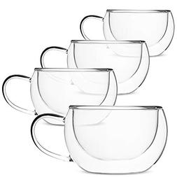 b2e599dfb3f BTäT- Insulated Coffee Cups, Set of 4 , Double Wall Glass T