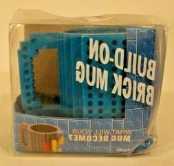 Build On A Brick Mug Lego Coffee Cup DIY Lego Block Blue BPA