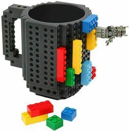 Build-On Brick Mug - BPA-free 12oz Coffee Blue Mug