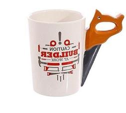 Decodyne Builder at Work Series Coffee Mug with Saw Handle f