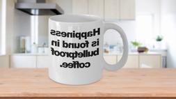 Bulletproof Coffee Mug Happy Funny Gift for Fat Coffee Lover