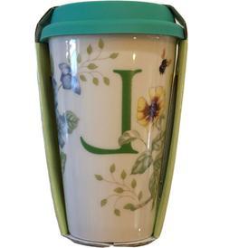 "Lenox® Butterfly Meadow® Initial ""L"" Travel Mug"