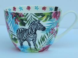 PORTOBELLO BY DESIGN FINE BONE CHINA JUNGLE ZEBRA COFFEE TEA