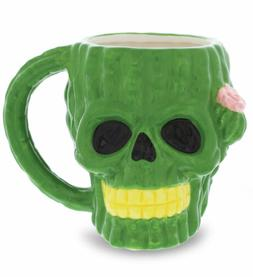 Mugniv Cactus Skull Coffee Mug: Boho Ceramic Unique Coffee M
