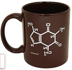 Funny Guy Mugs Caffeine Molecule Ceramic Coffee Mug, Brown,