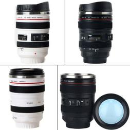 Camera Lens Cup 24-105 Coffee Tea Travel Mug Stainless Steel