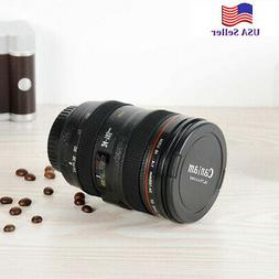 Cool Men's 24-105mm Lens Thermos Camera Travel Coffee Tea Mu