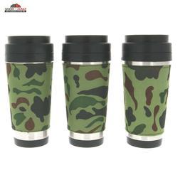 New 16oz CAMO COFFEE TRAVEL MUG Stainless Steel Camouflage D