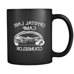 Camping Coffee Mug - Camp Crystal Lake Counselor Quote on bl